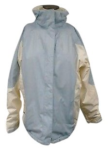 Lands' End Polyester Lined Insulated Zip Front Hooded 6192a Coat