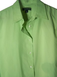 Lands' End Button Down Shirt Green