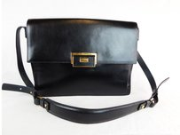 Lanvin Leather Messenger Cross Body Bag