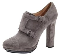 Lanvin Suede Buckle Gray Pumps
