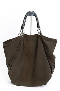 Lanvin Gray Suede Hobo Bag