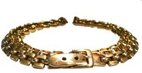 Lanvin LANVIN Haute Couture Designer Signed Belt Authentic Made in France Golden Snake Linked Chain Runway Accessory Vintage High End Paris Fashion