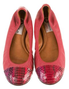 Lanvin Luxury Designer Pink/Red Flats