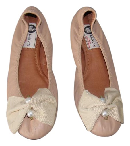 Lanvin Leather Bow Flats buy cheap big discount G8S6MvKSi