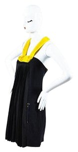 Lanvin short dress Black Yellow Wool on Tradesy