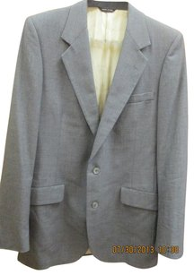 Lanvin Vintage Retro Lanvin Paris New York Barneys Men Gray Virgin Wool Suit