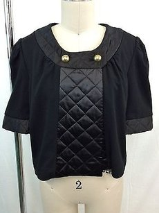 LaROK Quilted Trim Gold Black Jacket