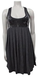 LaROK short dress Black Sequin Pleated on Tradesy