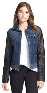 Laundry by Shelli Segal Blue and Black Womens Jean Jacket