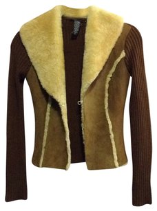 Laundry by Shelli Segal Brown Leather Jacket