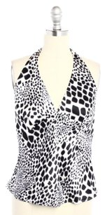 Laundry by Shelli Segal White & Black Halter Top