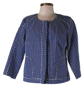 Laundry by Shelli Segal Polka-dot Blue Jacket