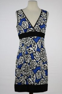 Laundry by Shelli Segal Design Womens Blue Dress