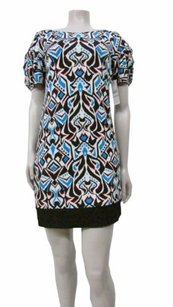 Laundry by Shelli Segal short dress Blue Multi-Color Printed on Tradesy