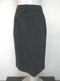 Laundry by Shelli Segal Gathered Front Straight S3721 Skirt Black