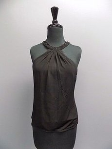 Laundry by Shelli Segal Stretchy Sleeveless Embellished Sma12262 Top Black