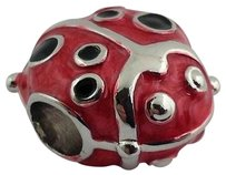 Lauren G Adams Lauren G Adams Lady Bug Charm Rhodium Enamel Fits All Brands