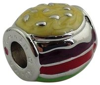 Lauren G Adams Lauren G Adams Rhodium Enamel Hamburger Charm Beads Fits All Brands