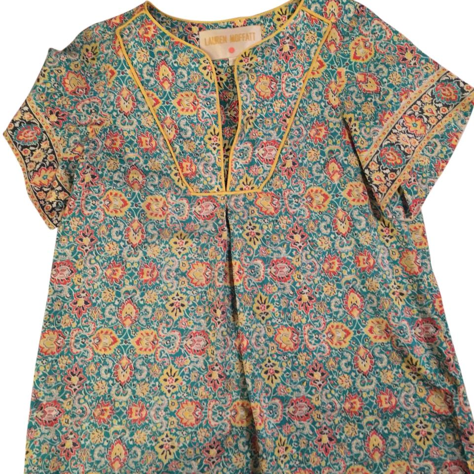 Lauren Moffat Silk Printed Top w/ Tags Clearance Outlet Store W6yVazwHu