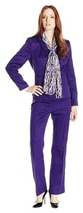Le Suit 13 55 Le Suit Regal Purple St Germain Two Piece Pant Suit Scarf Size 2p