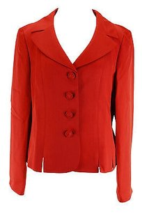 Le Suit Le Suit Womens Skirt Suit Red Polyester