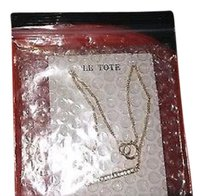 Le Tote Le Tote Necklace with Ipsy Red Quilt Design Bag