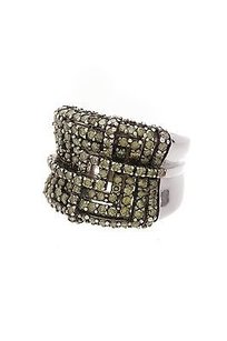 Le Vian Le Vian 14k White Gold Green Diamond Ring Size 5.5