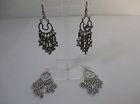 Lee Angel Lee Angel Antique Brass Link Hoop Strand Earrings