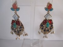 Lee Angel Lee Angel Cabochon Bead Statement Earrings