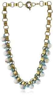 Lee Angel Lee Angel Marti Faceted Blue Glass And Henna Silk Necklace
