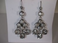 Lee Angel Lee Angel Piper Chandelier Antique Silver Crystal Earrings