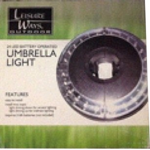 Leisure Ways Outdoor NEW!Leisure Ways Outdoor 24 LED Light Battery Operated Umbrella Light