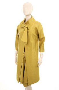 Lela Rose Lela Rose Yellow Silk Cotton Drape Over Coat Bed Jacket Suit Dress Skirt 10l