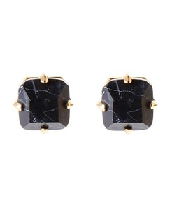 Lele Sadoughi Faceted Midnight Stud Earrings