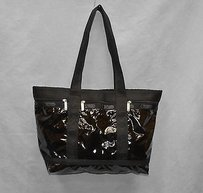 LeSportsac A8 Patent Tote in Black