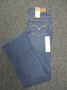 Levi's Blue Wash Print Perfectly Slimming 1544 A Boot Cut Jeans