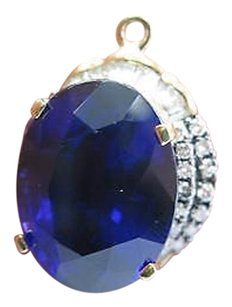 LeVian Levian Gem Tanzanite Diamond Huge Pendant Yellow Gold 34.88ct