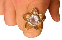 LeVian STUNNING Le Vian Rose Gold Amethyst and Diamond Flower Ring