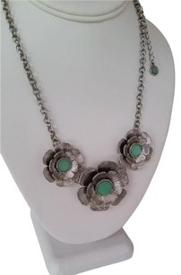 Lia Sophia LILY PAD Necklace with Cut Crystals
