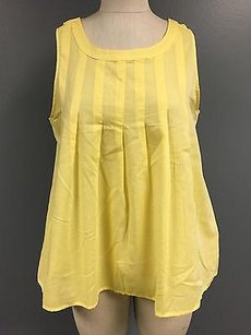 Lilla P Yelllow Cotton Blend Top Yellow