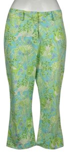 Lilly Pulitzer Womens Printed Cropped Casual Trousers Pants