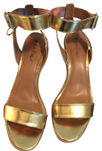 Lilly Pulitzer for Target Gold Sandals