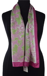 Lilly Pulitzer Lilly Pulitzer For Ford Womens Pink Scarf One Printed Silk Casual