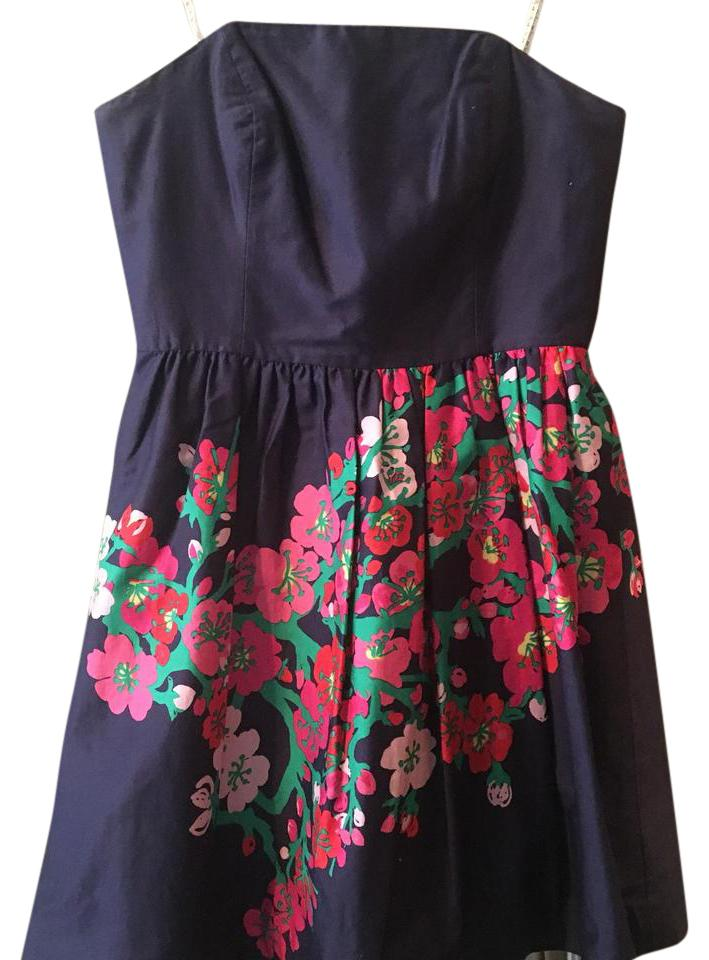 Lilly Pulitzer short dress Navy with Pink