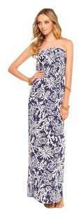 blue, white Maxi Dress by Lilly Pulitzer Preppy Girly