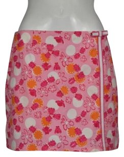 Lilly Pulitzer Womens Floral Skirt Pink, Orange, White
