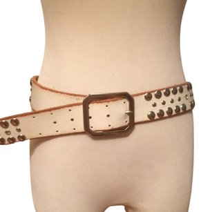 Linea Pelle Lk New Distressed Leather Silver& Rhinestone Studded Hip Belt