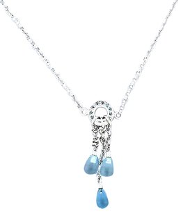Links of London Links London .925 Sterling Silver Topaz Dangle Toggle Necklace