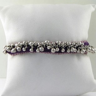 Links of London Links Of London 5010.1439 Bracelet Effervescence Purple Cord Beads 925