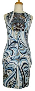 Lisa Nieves short dress Blue Print Stretchy Lycra Jersey on Tradesy